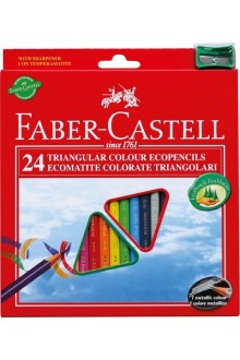 Faber-Castell - Set 24 creioane colorate ECO