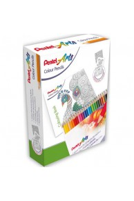 PENTEL ART COLOUR PENCILS 24 SET