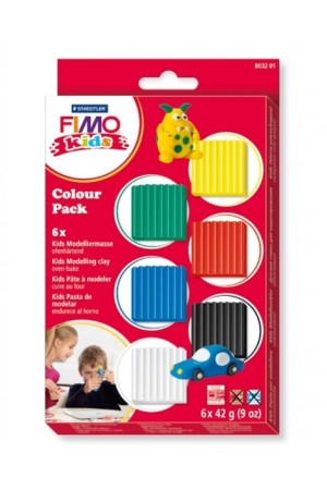Staedtler - Fimo - Kids - Set 6 Culori Basic
