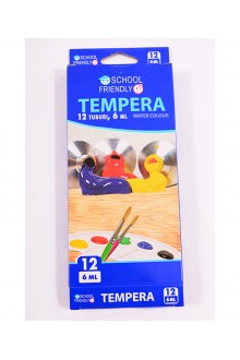 SET TEMPERA 12/SET 06ML. SCHOOL FRIENDLY