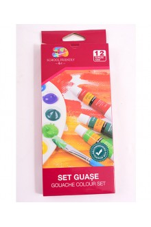 SET GUASE, 12 CULORI/SET SCHOOL FRIENDLY