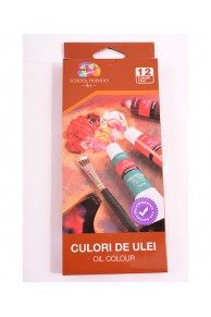 SET CULORI DE ULEI, 12 CULORI/SET SCHOOL FRIENDLY