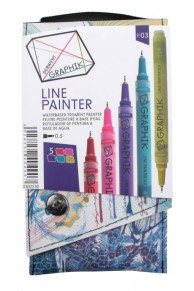 Derwent - Set 5 x Liner colorat Graphik  #03