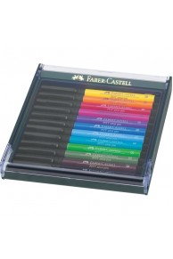 "Faber-Castell - Set 12 Pitt Artist Pen Brush ""Bright"""