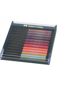 "Faber-Castell - Set 12 Pitt Artist Pen Brush "" EARTH TONES"""