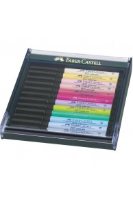 "Faber-Castell - Set 12 PITT Artist Pen Brush ""PASTEL"""