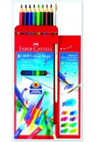 Faber Castell - Set 8 Pastel Grip Colour Magic