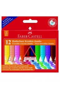 Faber-Castell - Creione colorate plastic Jumbo set 12 (3+)