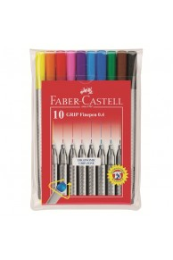 Faber-Castell - Set 10 x Liner Grip 0.4 mm