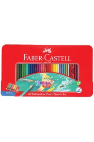 Faber-Castell - Set 60 creioane acuarelabile Sketch Set