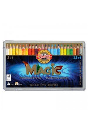 Koh-I-Noor - Set 24 creioane triunghiulare MAGIC JUMBO