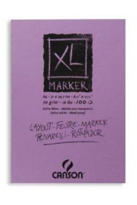 Canson Bloc XL Marker A3, 70gr/mp, 100pag