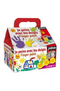 Pebeo - Set Finger paint 4x40ml