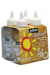 Pebeo - Set 4x250ml Glitter lichid