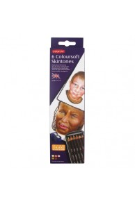 Derwent - Coloursoft Set 6 Skintones